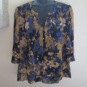 Staring at Stars UO Abstract Chiffon Blouse size S